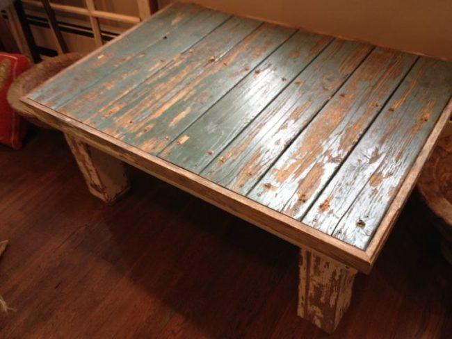 Distressed Door Coffee Table