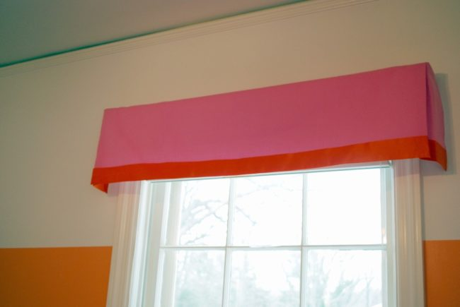 No sew box pleat valance