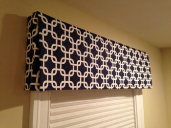 No sew box valance