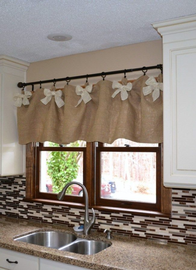 No sew kitchen valance