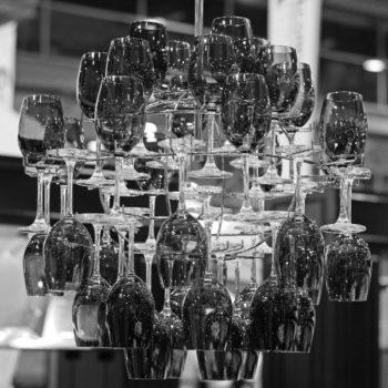 Black Wine Glass Chandelier
