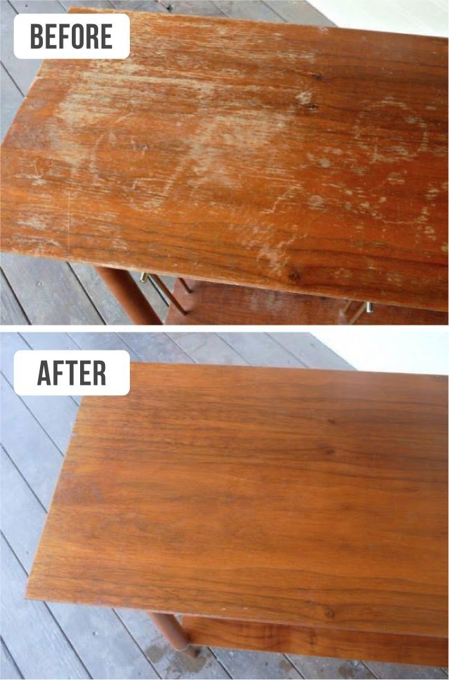 Cleaning a Wooden Picnic Table
