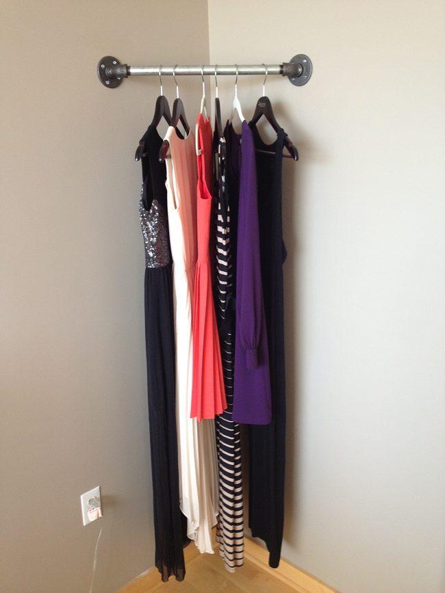 Corner Pipe Clothing Rack