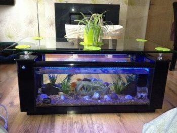 Elite Aquarium Fish Tank Coffee Table