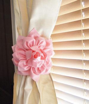 Flower Curtain Tie Backs