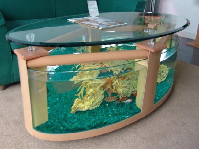 Glass Aquarium Fish Tank Coffee Table