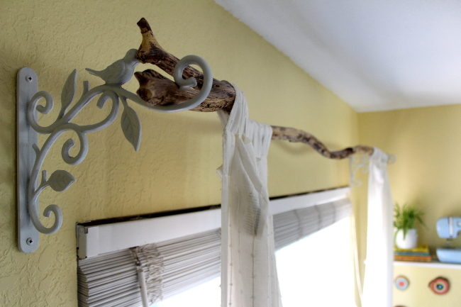 How to Fix a Tree Branch Curtain Rod