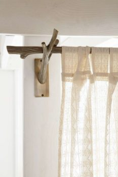 How to Make a Tree Branch Curtain Rod