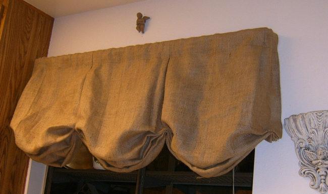 No-Sew Burlap Curtains
