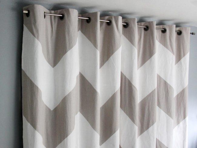No-Sew Chevron Curtains