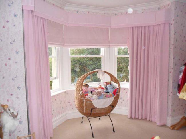 No-Sew Nursery Curtains
