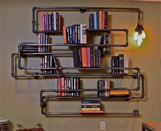 Pipe Fitting Bookshelf