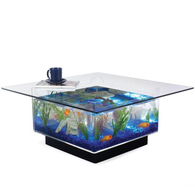 Tropical Aquarium Fish Tank Coffee Table