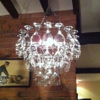 Wine Glass Chandelier Light