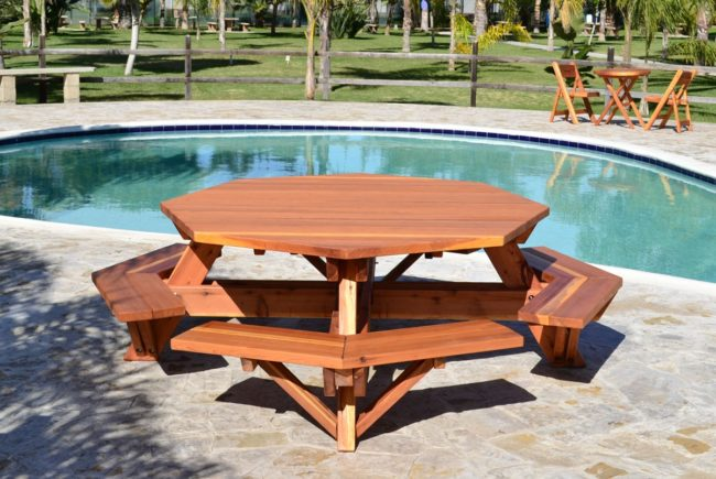 Build a wooden picnic table