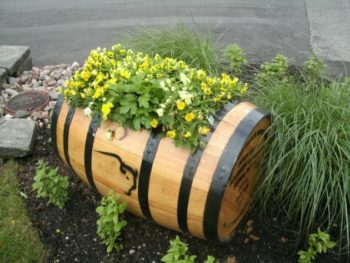 Convert Wine Barrel Into Planter