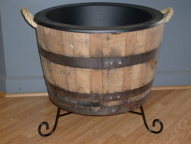 Lining a Wine Barrel Planter
