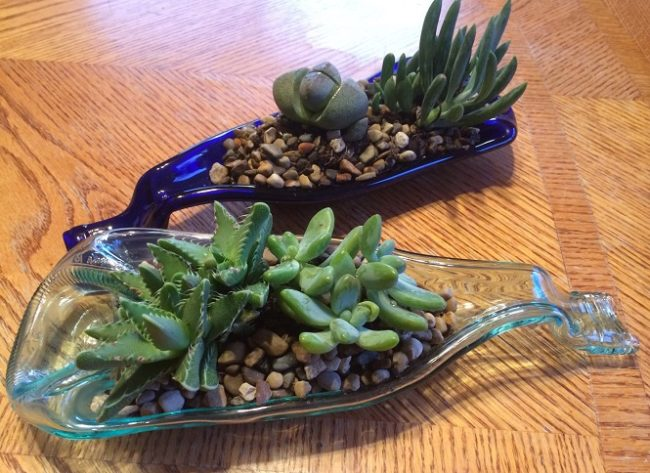 Make a Wine Bottle Planter