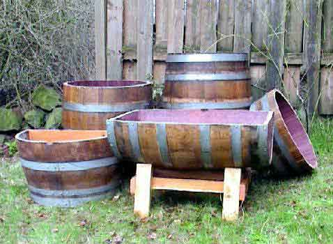 Melbourne Wine Barrel Planters