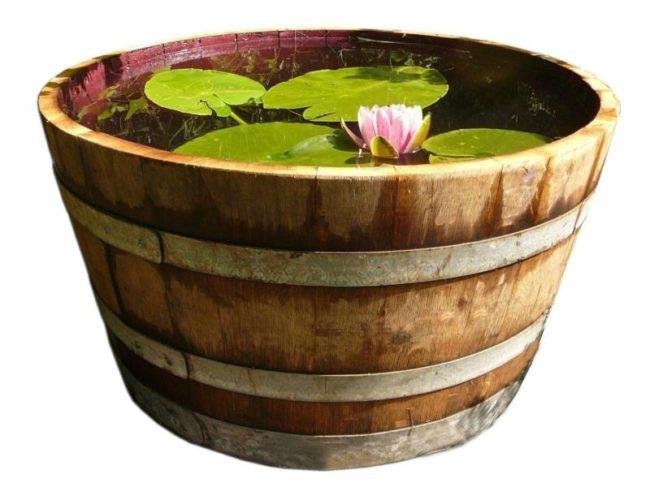 Oak Barrel Planters Ebay