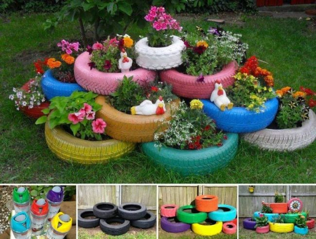 Tire Planters Ideas