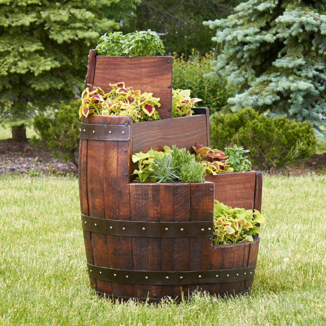 Wine Barrel Planters Edmonton