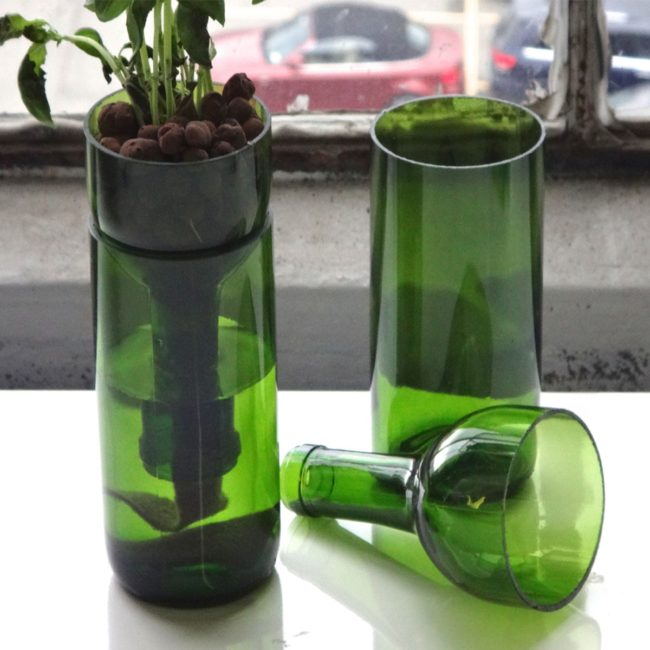 Wine Bottle Planter Instructions