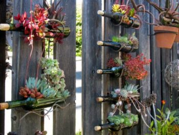 Wine Bottle Planter Tutorial