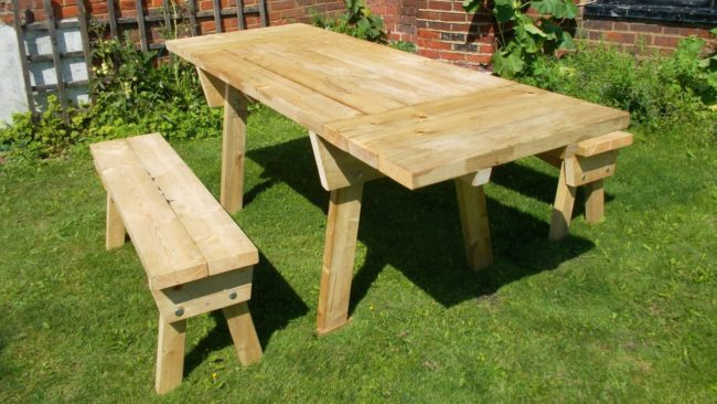 high quality wooden picnic tables