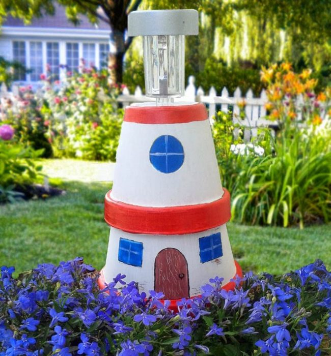 plant pot lighthouse