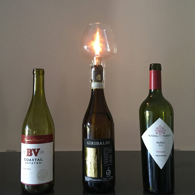 wine bottle tiki torch supplies