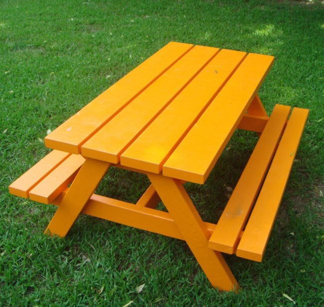 wood picnic table ideas