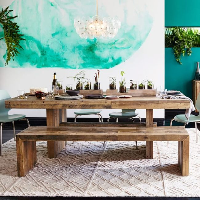 wooden picnic kitchen table