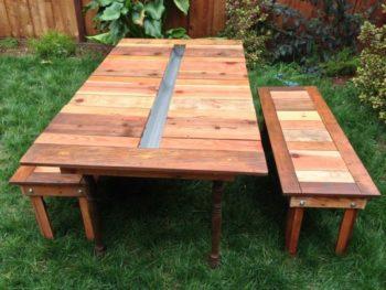 wooden picnic tables diy