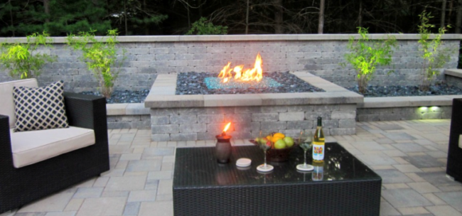 Built-In Fire Pit