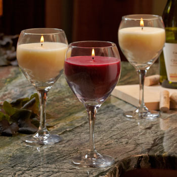 Candle in Wine Glass