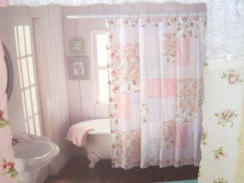 Cottage Patchwork Shower Curtain Tutorial