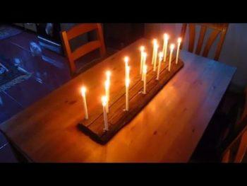 Easy Log Candle Holder