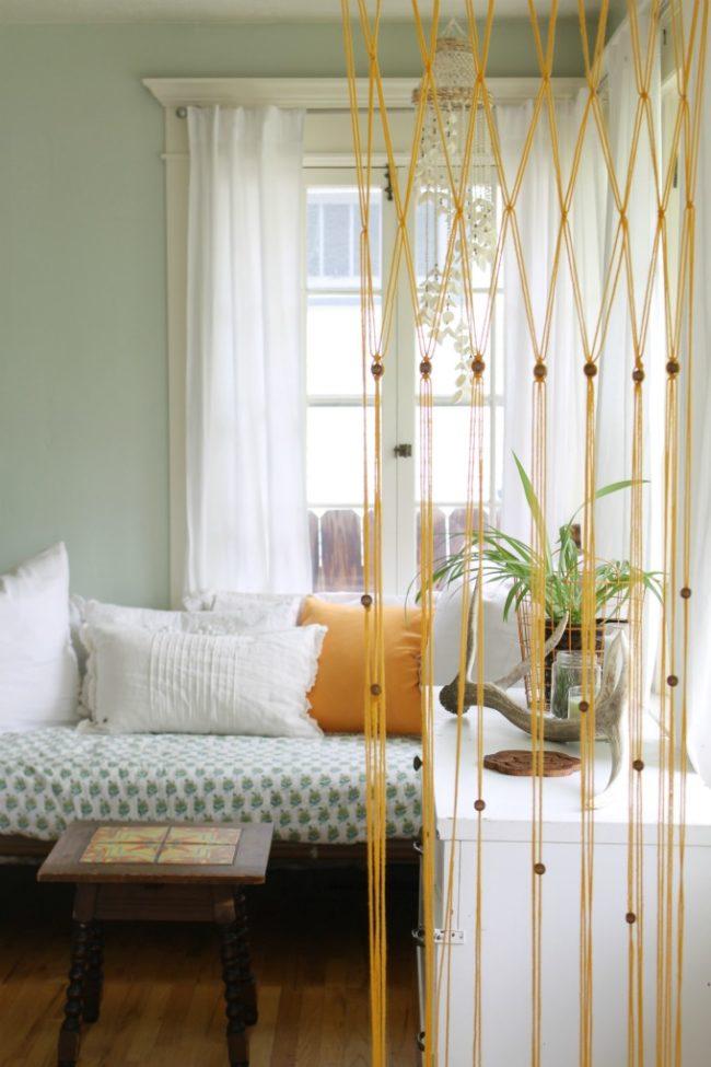 Easy Macramé Bead Curtain Using Yarn