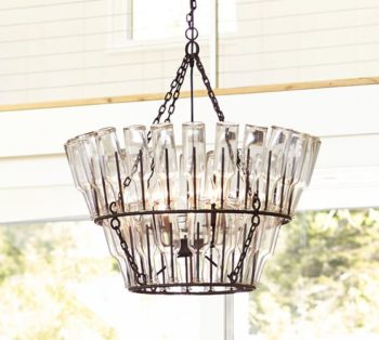 French Wine Bottle Chandelier