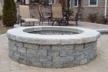 Gray Stone Fire Pit