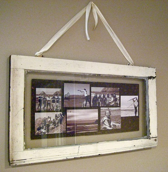Hanging Window Pane Picture Frame