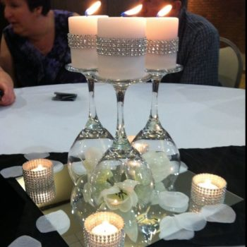How to Make a Wine Glass Candle Holder Centerpiece