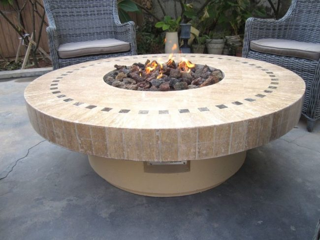 Marble Fire Pit