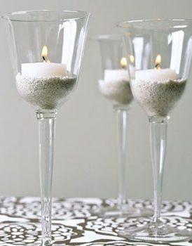 Mini Wine Glass Votive Candles