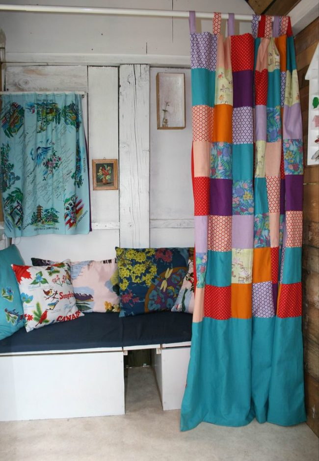 Patchwork Curtains DIY