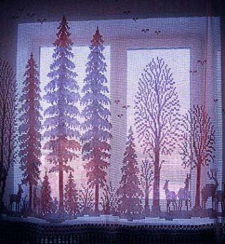 Simple Crochet Curtain Design