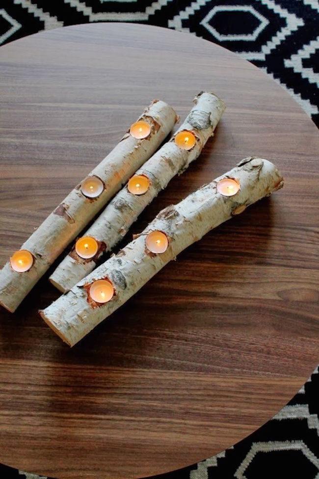 Tealight Log Candle Holder
