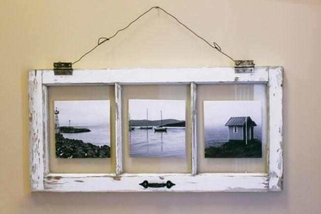 Vintage Window Pane Picture Frame