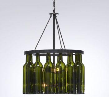 Wine Bottle Chandelier Frame